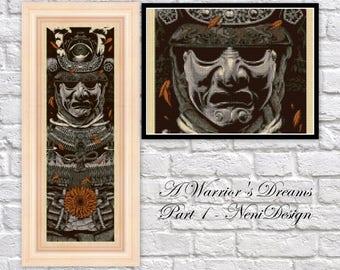 Cross stitch pattern, cross stitch, A Warrior's Dreams Part I. - cross stitch pattern - PDF pattern - instant download!