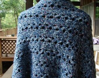 Pattern Lace Hand knit Shawl Rectangle Pattern
