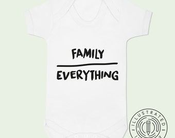 Family Over Everything baby vest babygrow K0130