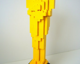 Building Instructions for Oscar Statue made from LEGO bricks