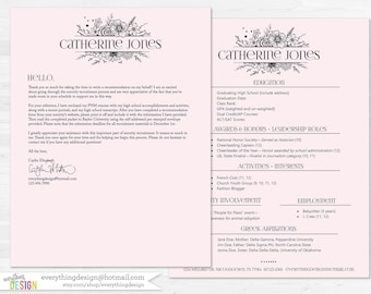 Pink & Black Custom Sorority Recruitment Packet- Digital Printable OR Printed (includes shipping!)