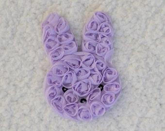 """3"""" Shabby Chiffon Flower Bunny, Shabby Bunny, Easter Headband, Baby Girl Headband, Lavender, 1, 2, or 5"""