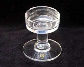 Dartington Glass | Candle Holder | Hand Made | 3.5 inches | Excellent