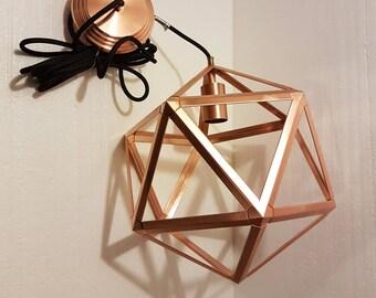 etsy lighting pendants. Icosahedron Copper Pendant Light Etsy Lighting Pendants R