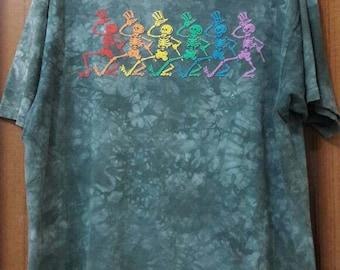 VTG Grateful Dead - Dancing Skeletons Tye Dye 1995