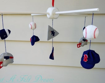 customizable sports baby mobile, sports nursery, sports nursery decor