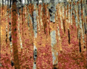 Forest by Klimt counted cross stitch kit