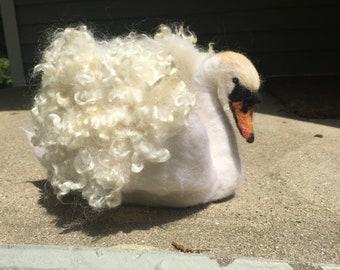 Swan Wool Sculpture