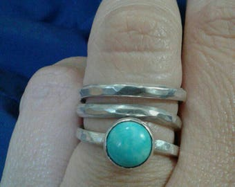 Torquoise Dream. Silver ring with Mexican torquoise.