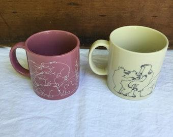 Taylor and NG Animal Orgy mugs Hippo Bear