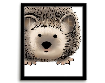 Animal Nursery Art Hedgehog Print Nursery Wall Art Woodland Nursery Animal Nursery Print Woodland Hedgehog Animal Art Animal Print Woodland
