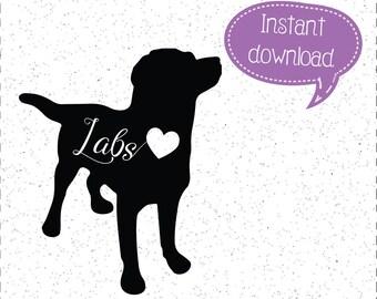 Labrador Retriever SVG, Labs, Labrador Retriever SVGs, Labrador Retrievers SVGs, Dog SVGs, Dogs SVGs, SVGs, Cricut Cut File, Silhouette File