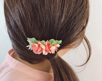 Hair Clip   Pink Hair Clip   Floral Hair Clip   Flower Hair Clip   Pink   Little Girl   Flower Girl   Wedding  