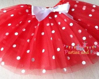 Minnie Mouse Tutu Red polka Dot tutu Girls tutu Minnie Mouse Party Minnie Mouse Birthday