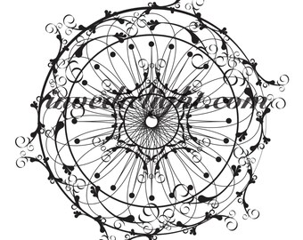 PHYSICAL PRINT OUT Mandala for Growth & New Opportunities ~ An 8.5 X 11 Laser Print Out