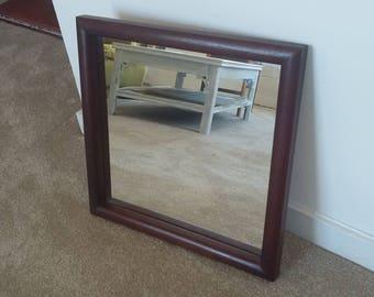 Large Vintage Teak Mirror