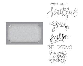 Spellbinders - Stamp/Die Set - Quite Contrary - Debi Adams - Frame of Mind