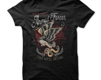 U.S Armed Forces - U.S Armed Forces Shirt - U.S Army - U.S Veterans - Air Force Navy Military - Seals - Marines - Soldiers - U.S Military