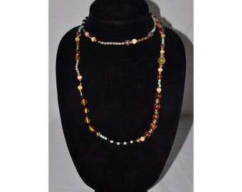 Multi Color Glass Beaded Necklace