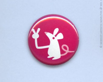 """Victory Mouse 1"""" Pin-Back Button"""
