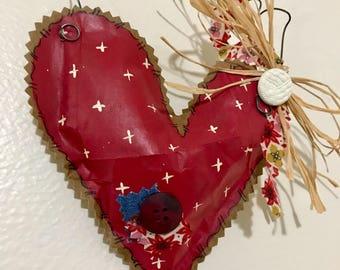 Paper hanging heart
