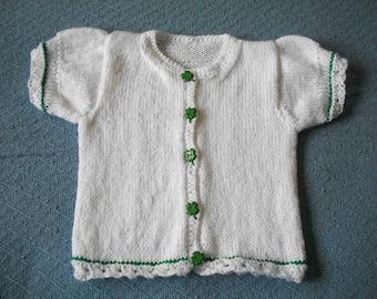 Girl's Shamrock Cardigan Sweater