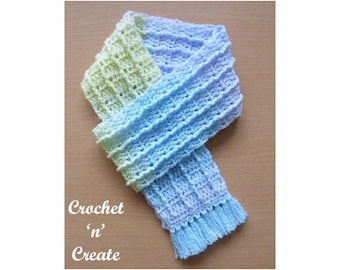 Fringed Scarf Crochet Pattern (DOWNLOAD) CNC76