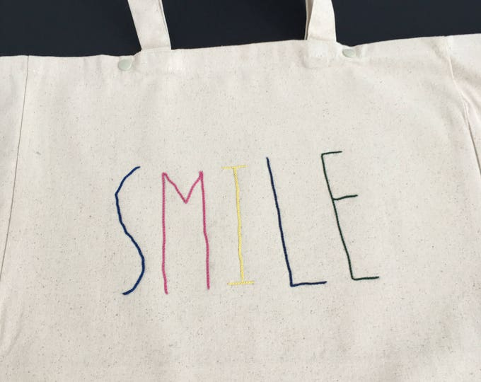 """Cabas """"SMILE"""" - Broderie Cornely"""