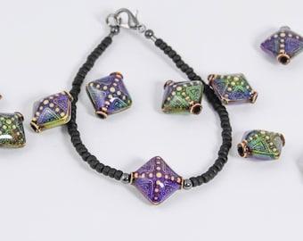 Mood Bead Bracelet, Mood Bracelet, Mood Jewelry, Mood Stone, Boho Bracelet, Hippie Jewelry, Seed Bead Bracelet, Gypsy Jewelry, Rainbow