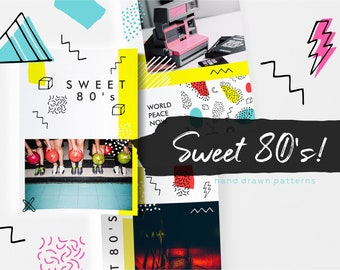 10 pcs Sweet 80's pattern collection!