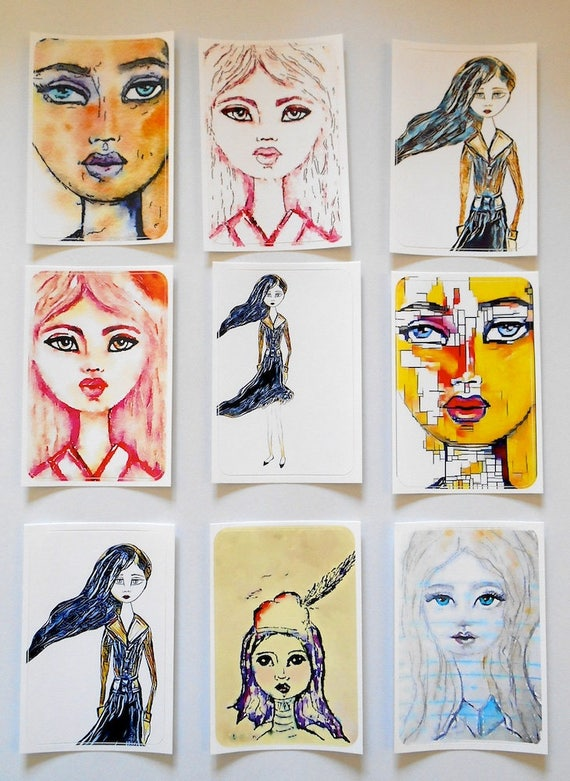 NEW*** Girls Mixed 2 - Large Fine Art Stickers
