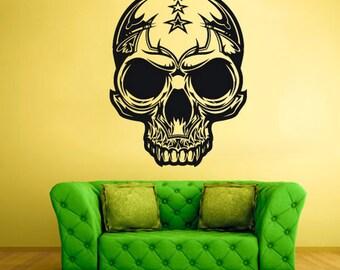 rvz1114 Wall Vinyl Sticker Bedroom Decal Skull Horror