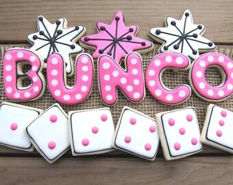 Bunco Party Favors // Bunco Party Decor // Bunco Favors // Bunco // Bunco Sugar Cookies
