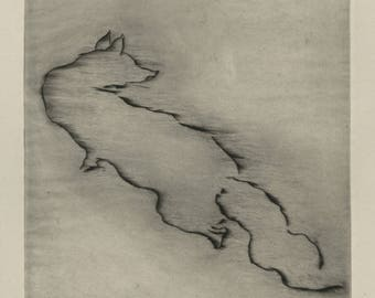 "RENEE' SINTENIS (Polish/German, 1888-1965), ""Der Fuchs"", ca. 1940, original drypoint, pencil signed."