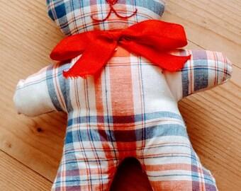 Lightweight Plaid cotton toy