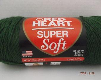 Red Heart Super Soft Yarn ~ Jumbo 10 oz Ball ~ Grass Green ~ 515 Yards ~ #4 Medium