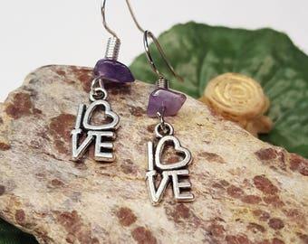 Love Park Philadelphia/ Love Park Earrings/ Philadelphian/ Love Charm Earrings/ Gift for Girlfriend/ Love charm jewelry/ Anniversary Earring