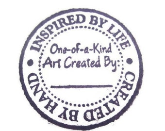 Inspired By Life Stamp Wood and Rubber, Created By Hand Stamp