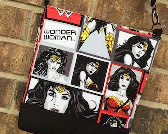 Wonder Woman Inspired Messenger Bag/ Cross Body Bag