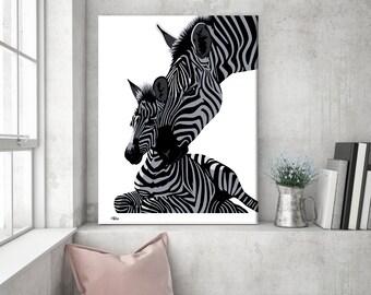 Marvelous Wall Art Canvas, Zebra Print, Zebra, Zebra Canvas, Animal Print, Zebra Wall  Art, Canvas, Wall Art, Safari Nursery, Zebra Gift, Animal Canvas