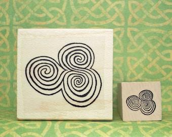 Newgrange Spirals Rubber Stamp Set Ancient Ireland