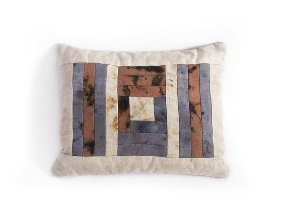 Log Cabin Patchwork Pillow