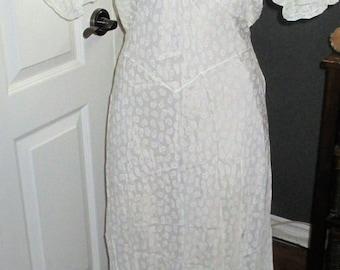 Vintage Semi Sheer Luxury  Bias Cut Mafri Nightgown Nightie