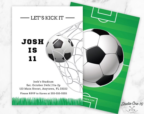 Soccer birthday invitation soccer invitation soccer party like this item filmwisefo Image collections