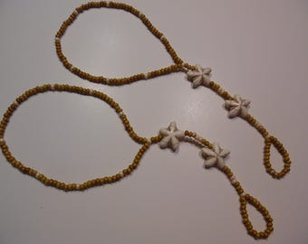 Barefoot Sandal Natural and Cream with Star fish Accents