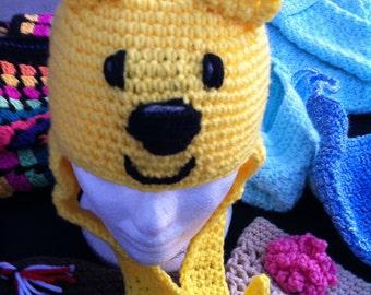 Crochet WoW  WoW Wubbzy hat w/ earflaps