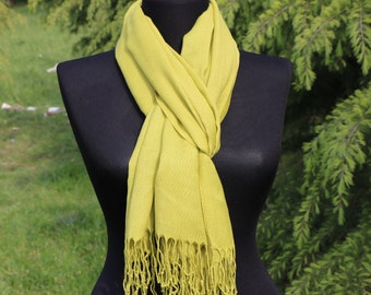 Yellow Scarf / Lemon Yellow Scarf / Bridesmaid Gift / Scarf for Women