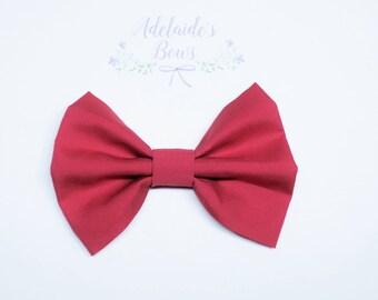 Poppy Red Hair Bow