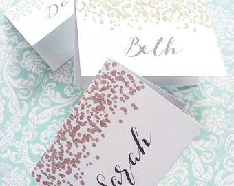 Wedding Place Cards -   Name Place Cards - Place Name Cards