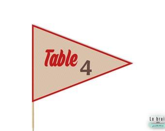 Nom de table hipster rustique